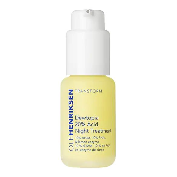 Dewtopia 20% Acid Night Treatment Retexturizing night serum, OLEHENRIKSEN