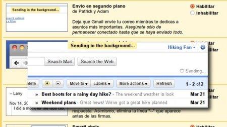 Sigue usando Gmail sin esperar a que tus correos terminen de enviarse