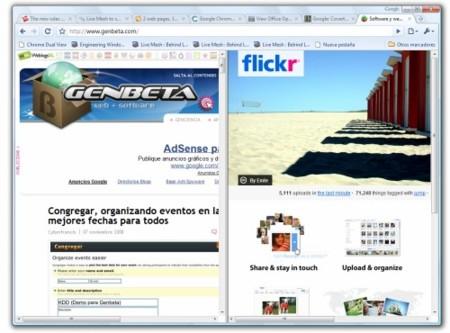 Chrome Dual View, dos páginas web en una sola pestaña