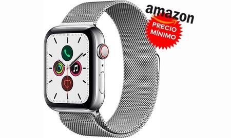 Estilo y resistencia a precio mínimo: Amazon te deja el Apple Watch Series 5 GPS+LTE de acero con correa Milanese Loop por 609 euros