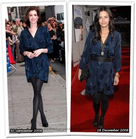 Vestido de Marc Jacobs: ¿Anne Hathaway o Courteney Cox?
