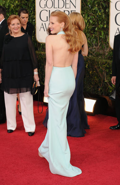 GOLDEN-GLOBE-awards-011313- Jessica Chastain