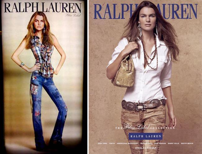 Filippa Hamilton campaña Ralph Lauren 2009 Photoshop fail