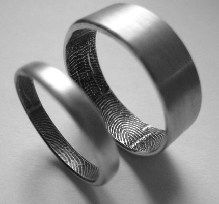 Set de anillos con tus huellas digitales