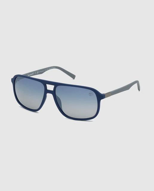 Gafas de sol de hombre Timberland rectangulares en azul marino con lentes degradados