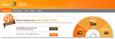 Terra Giga, servicio de almacenamiento online de Telefónica