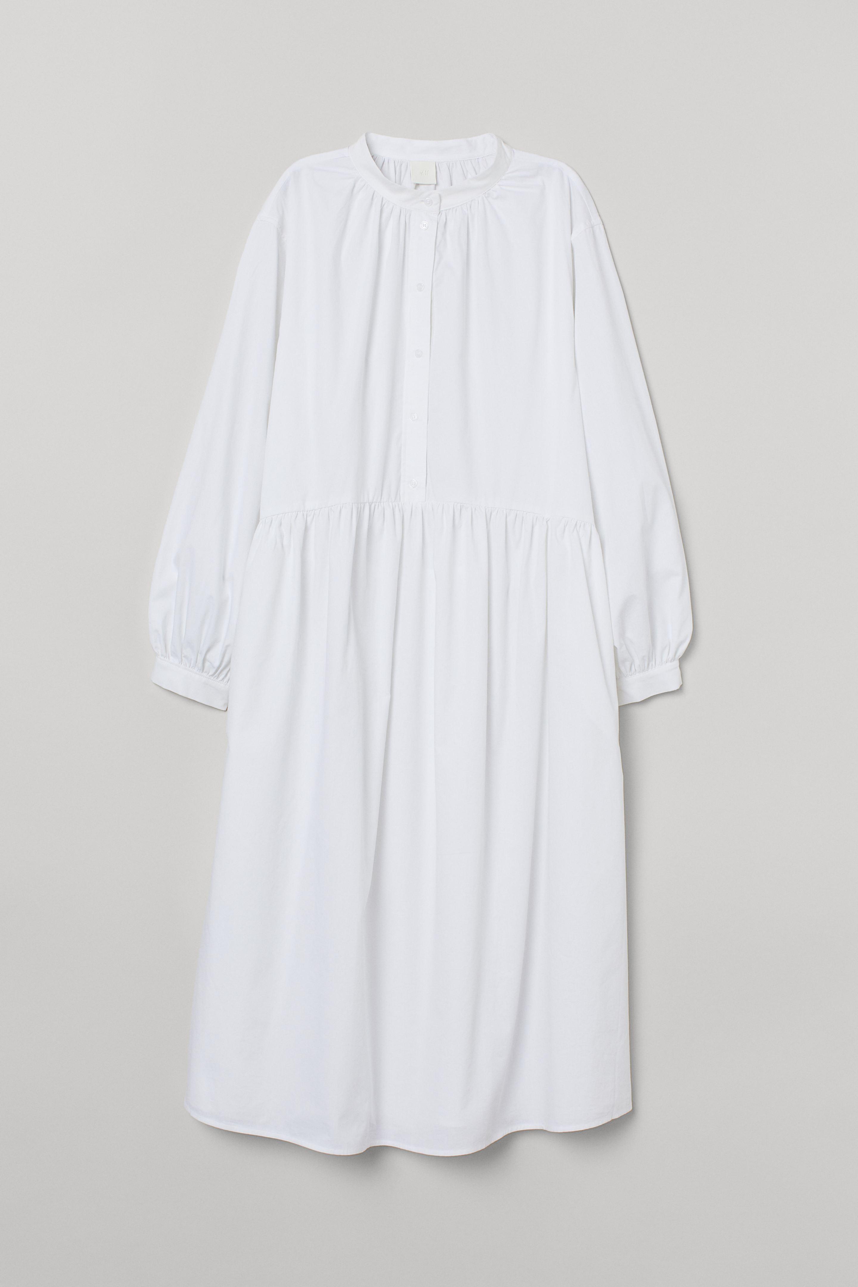 Vestido de algodón manga larga