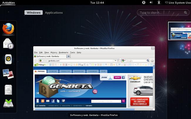 Fedora 17 con GNOME Shell