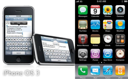 iPhone 3GS con iPhone OS 3