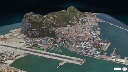 Vista Flyover de los Mapas de Apple (Gibraltar)