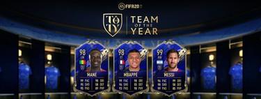 Guía FIFA 20: Equipo del Año (TOTY). Messi, Mbappé y Mané en el combinado definitivo de 2019