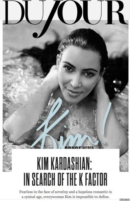 Kim Kardashian lleva los kilos de lujo en la portada de DuJour