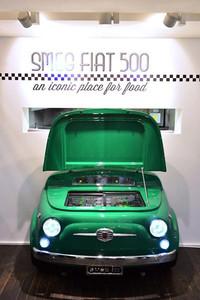 Fiat se asocia con Smeg para crear una nevera con la mítica forma del Fiat 500