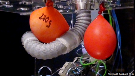 Crean un tentáculo robótico que podría ayudar en cirugías poco invasivas