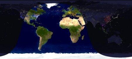 Salvapantallas con vuelos internacionales en tiempo real