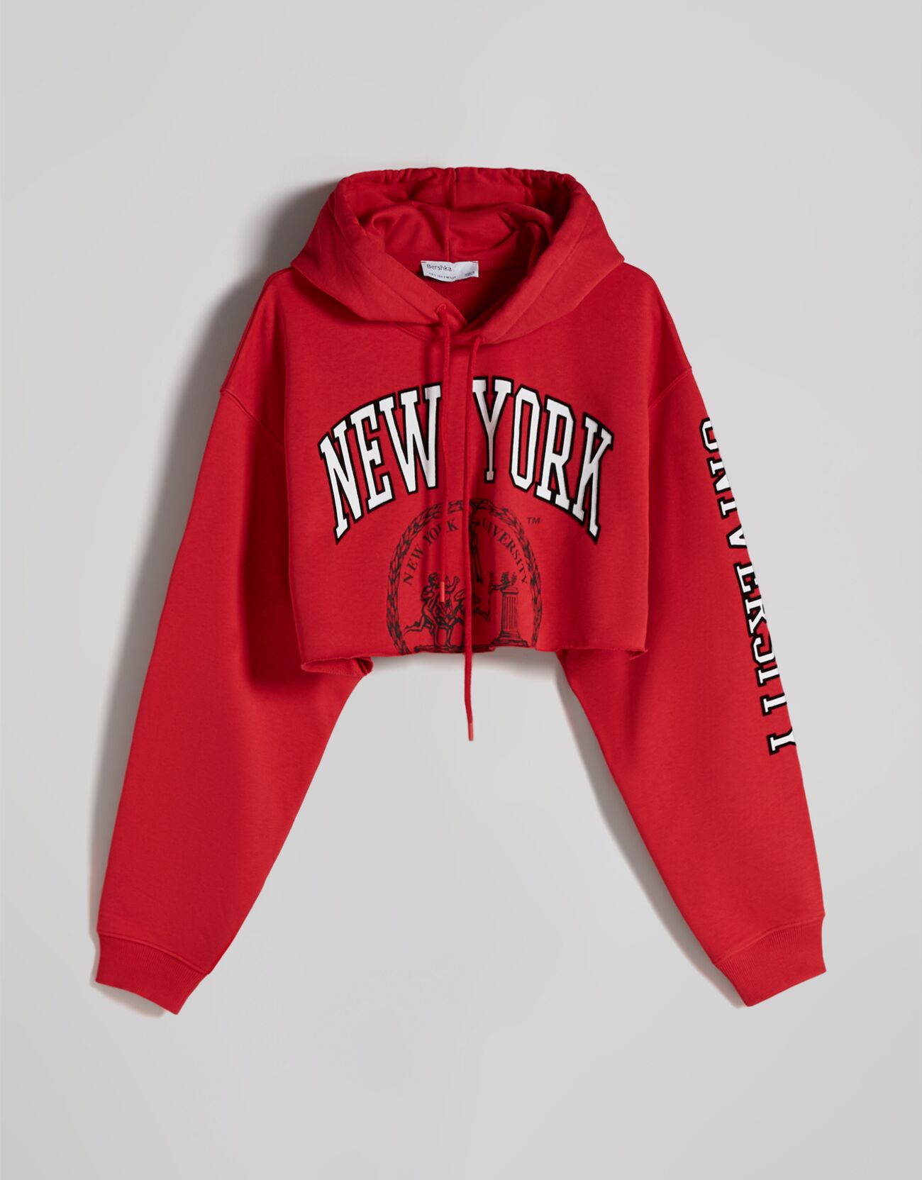 Sudadera cropped con capucha de Nueva York