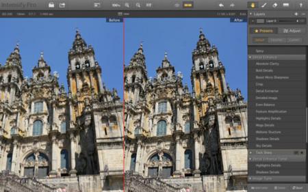 Catedral de Santiago procesada con Intensify Pro