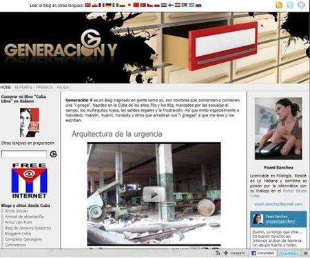 La bloguera cubana Yoani Sánchez, héroe mundial de la libertad de prensa