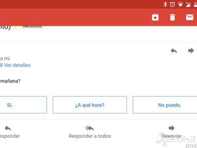 Cómo desactivar las respuestas inteligentes de Gmail en Android