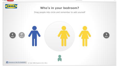 """IKEA y su aplicación para Facebook """"Happy to bed"""": un diseñador virtual para tu habitación"""