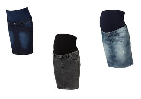 ce320e003 Moda para embarazadas Otoño-Invierno 2014 2015  faldas para lucir ...