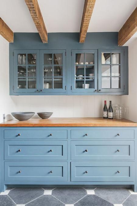 17 ideas de c mo decorar tu cocina con colores azul y blanco - Cocinas azules y blancas ...