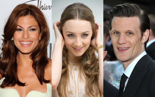 Eva Mendes, Saoirse Ronan y Matt Smith