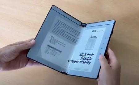 Crean una pantalla de tinta electrónica plegable y sobre la que se pueden tomar notas