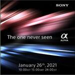 Sony anuncia ¿una nueva cámara de formato completo? para el 26 de enero