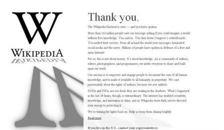 """Más de 162 millones de usuarios visitaron ayer la """"página oscurecida"""" de Wikipedia"""