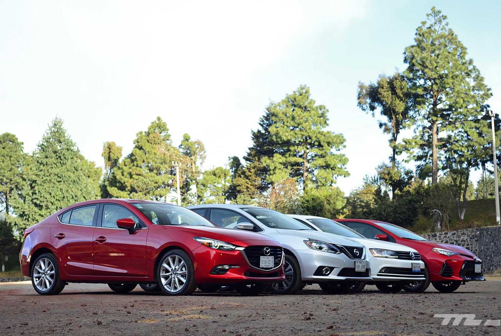 Foto de Comparativa: Mazda3 vs. Nissan Sentra vs. Toyota Corolla vs. Volkswagen Jetta (8/60)
