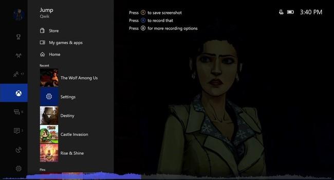 New Xbox Guide Menu