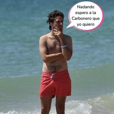Las fotos de Kiki Morente luciendo tipín en la playa: sus chapuzones sin Sara Carbonero