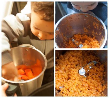 Cocinar con niños: receta de muffins de zanahoria y calabacín