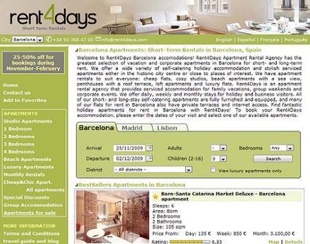 Rent4Days, alquiler de apartamentos privados