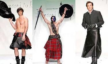 El desfile de Johnnie Walker: hombres con falda