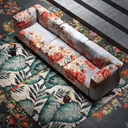 ¿Buena o mala idea? Un sofá con estampado floral