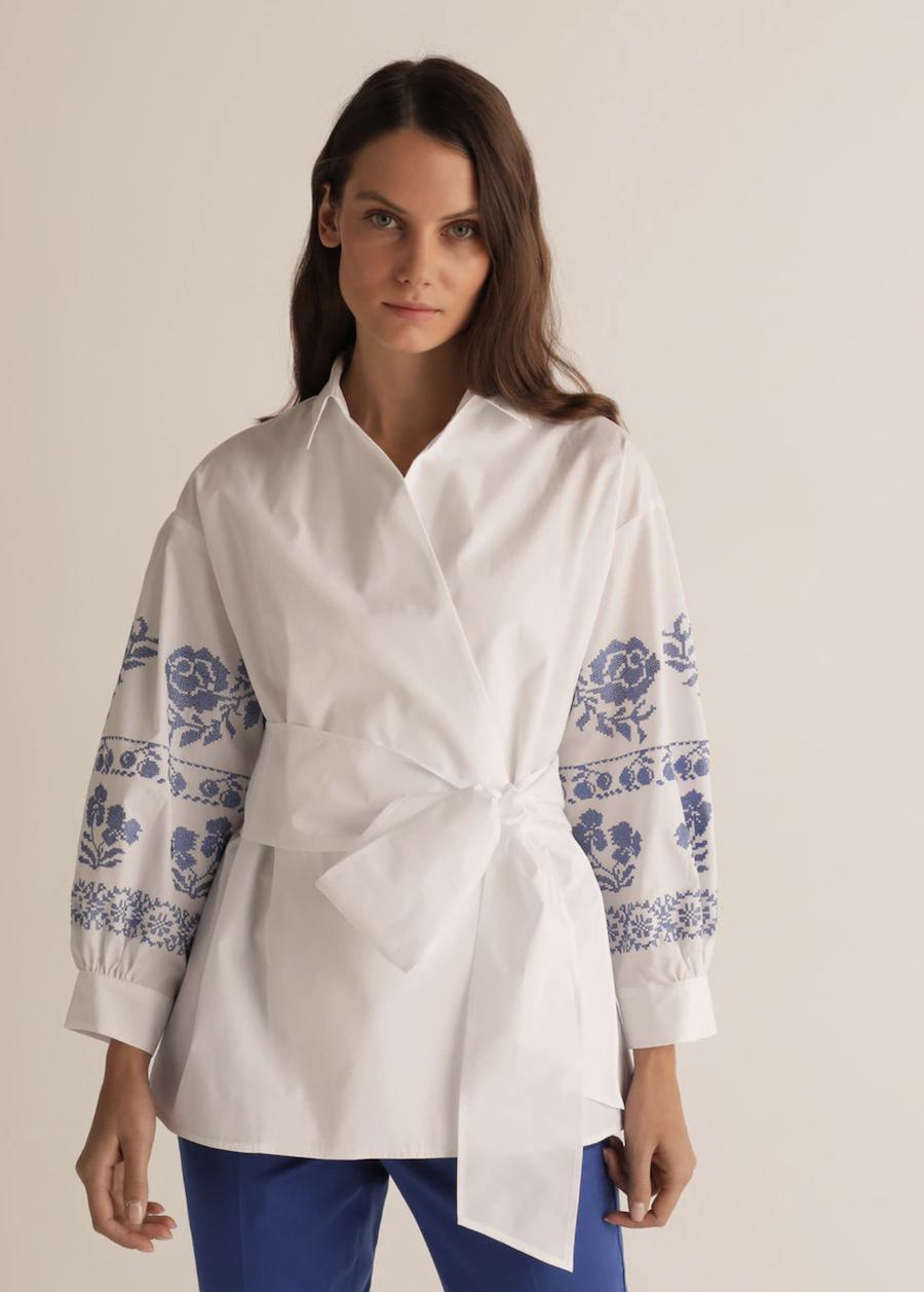 Camisa de mujer blanco óptico