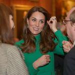 Kate Middleton elige un vestido verde ideal para la recepción en el Palacio de Buckingham a los mandatarios de la OTAN