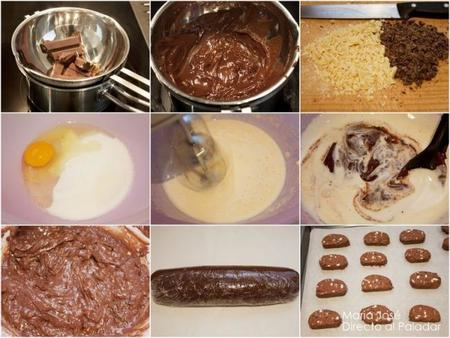 Paso a paso cookies de chocolate