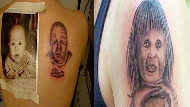 Horribles tatuajes de bebés