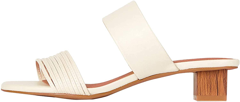 Marca Amazon - Find. Inset Heel Strippy Mule - Sandalias con punta abierta Mujer