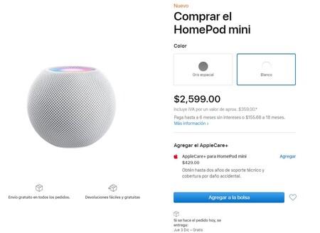 Apple Homepod Mini Disponibilidad