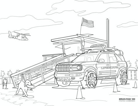 Dibujo Ford Bronco Sport