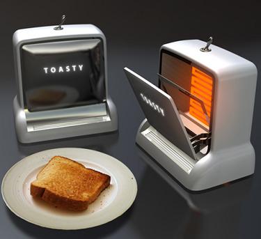 Toasty Single, tostadora de diseño para nostálgicos