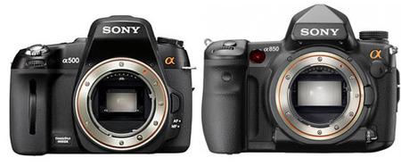 Sony A500 y A850: posibles características