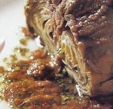 Alcachofas con vinagreta de queso