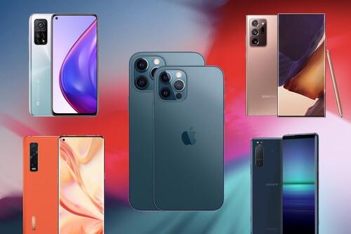 Comparativa del Apple iPhone 12 Pro y 12 Pro Max frente a Samsung Galaxy Note 20 Ultra, Xiaomi Mi 10T Pro y más: la gran batalla por ser el mejor móvil de 2020