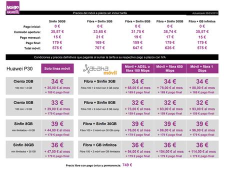 Precios Huawei P30 Con Pago A Plazos Y Tarifas Yoigo