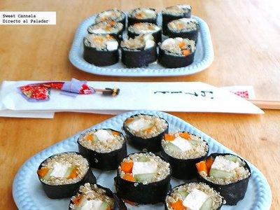 Sushi de quinoa. Receta Saludable
